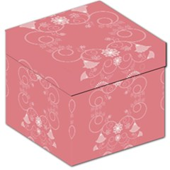 Flower Floral Leaf Pink Star Sunflower Storage Stool 12   by Mariart