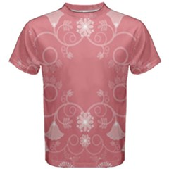 Flower Floral Leaf Pink Star Sunflower Men s Cotton Tee by Mariart
