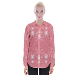 Flower Floral Leaf Pink Star Sunflower Womens Long Sleeve Shirt by Mariart