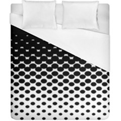 Gradient Circle Round Black Polka Duvet Cover (california King Size)