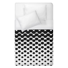 Gradient Circle Round Black Polka Duvet Cover (single Size) by Mariart