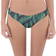 Coconut Leaves Summer Green Reversible Hipster Bikini Bottoms by Mariart