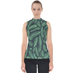 Coconut Leaves Summer Green Shell Top