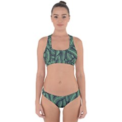 Coconut Leaves Summer Green Cross Back Hipster Bikini Set by Mariart