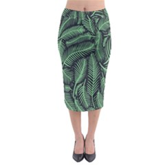 Coconut Leaves Summer Green Midi Pencil Skirt by Mariart
