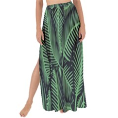 Coconut Leaves Summer Green Maxi Chiffon Tie Up Sarong