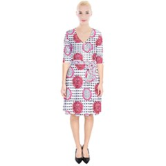 Fruit Patterns Bouffants Broken Hearts Dragon Polka Dots Red Black Wrap Up Cocktail Dress