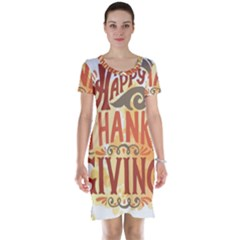Happy Thanksgiving Sign Short Sleeve Nightdress