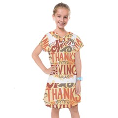 Happy Thanksgiving Sign Kids  Drop Waist Dress
