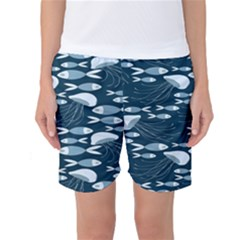 Jellyfish Fish Cartoon Sea Seaworld Women s Basketball Shorts by Mariart