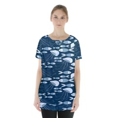 Jellyfish Fish Cartoon Sea Seaworld Skirt Hem Sports Top
