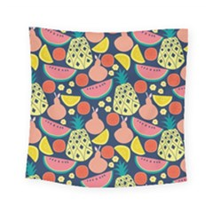 Fruit Pineapple Watermelon Orange Tomato Fruits Square Tapestry (small)