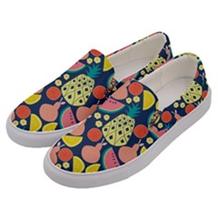 Fruit Pineapple Watermelon Orange Tomato Fruits Men s Canvas Slip Ons by Mariart