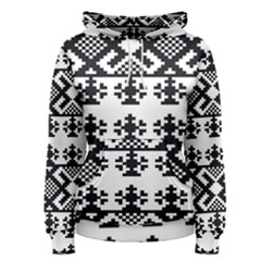 Model Traditional Draperie Line Black White Triangle Women s Pullover Hoodie