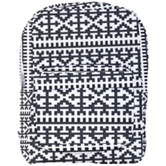 Model Traditional Draperie Line Black White Full Print Backpack by Mariart