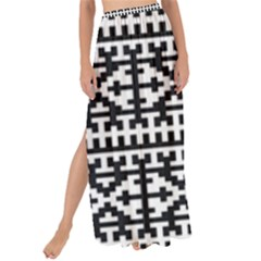Model Traditional Draperie Line Black White Maxi Chiffon Tie Up Sarong