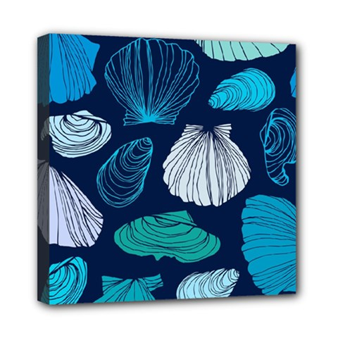 Mega Menu Seashells Mini Canvas 8  X 8  by Mariart