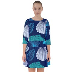 Mega Menu Seashells Smock Dress by Mariart