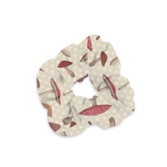 Mushroom Madness Red Grey Brown Polka Dots Velvet Scrunchie by Mariart