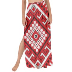 Model Traditional Draperie Line Red White Triangle Maxi Chiffon Tie Up Sarong