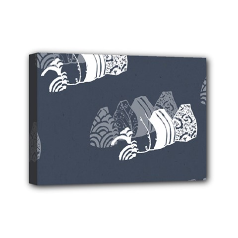 Japan Food Sashimi Mini Canvas 7  X 5