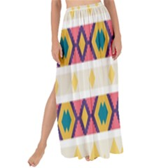 Rhombus And Stripes                          Maxi Chiffon Tie-up Sarong by LalyLauraFLM