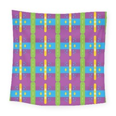 Stripes And Dots                          Square Tapestry by LalyLauraFLM