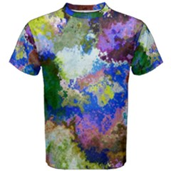 Color Mix Canvas                           Men s Cotton Tee by LalyLauraFLM