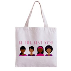 Black Girls Be The Best You Grocery Tote Bag by kenique