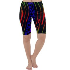 Frog Spectrum Polka Line Wave Rainbow Cropped Leggings  by Mariart