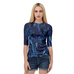 Pattern Butterfly Blue Stone Quarter Sleeve Raglan Tee by Mariart