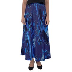 Pattern Butterfly Blue Stone Flared Maxi Skirt by Mariart
