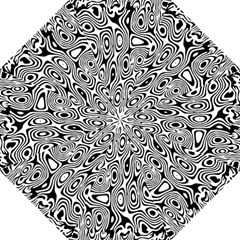 Psychedelic Zebra Black White Golf Umbrellas by Mariart
