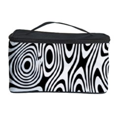 Psychedelic Zebra Black White Cosmetic Storage Case by Mariart
