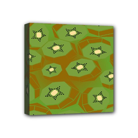 Relativity Pattern Moon Star Polka Dots Green Space Mini Canvas 4  X 4  by Mariart