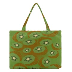 Relativity Pattern Moon Star Polka Dots Green Space Medium Tote Bag by Mariart