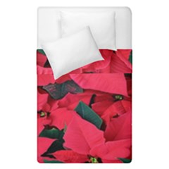 Red Poinsettia Flower Duvet Cover Double Side (single Size) by Mariart