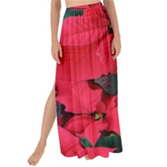 Red Poinsettia Flower Maxi Chiffon Tie Up Sarong