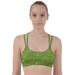 Digital Nature Collage Pattern Line Them Up Sports Bra by dflcprints