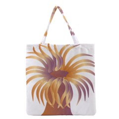 Sea Anemone Grocery Tote Bag by Mariart