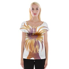 Sea Anemone Cap Sleeve Tops by Mariart