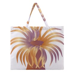 Sea Anemone Zipper Large Tote Bag by Mariart