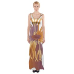 Sea Anemone Maxi Thigh Split Dress