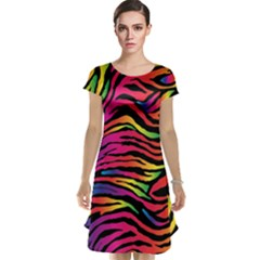 Rainbow Zebra Cap Sleeve Nightdress