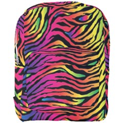 Rainbow Zebra Full Print Backpack by Mariart