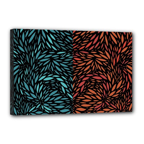 Square Pheonix Blue Orange Red Canvas 18  X 12  by Mariart