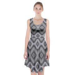 Triangle Wave Chevron Grey Sign Star Racerback Midi Dress by Mariart
