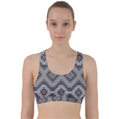 Triangle Wave Chevron Grey Sign Star Back Weave Sports Bra