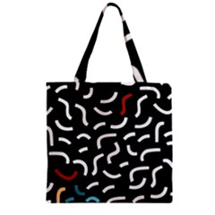 Toucan White Bluered Zipper Grocery Tote Bag