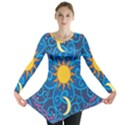 Sun Moon Star Space Vector Clipart Long Sleeve Tunic  View1